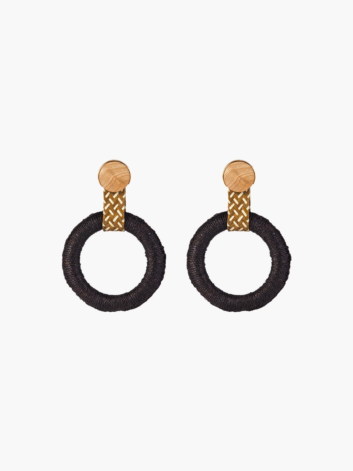 Maguey Hoops | Black Maguey Hoops | Black