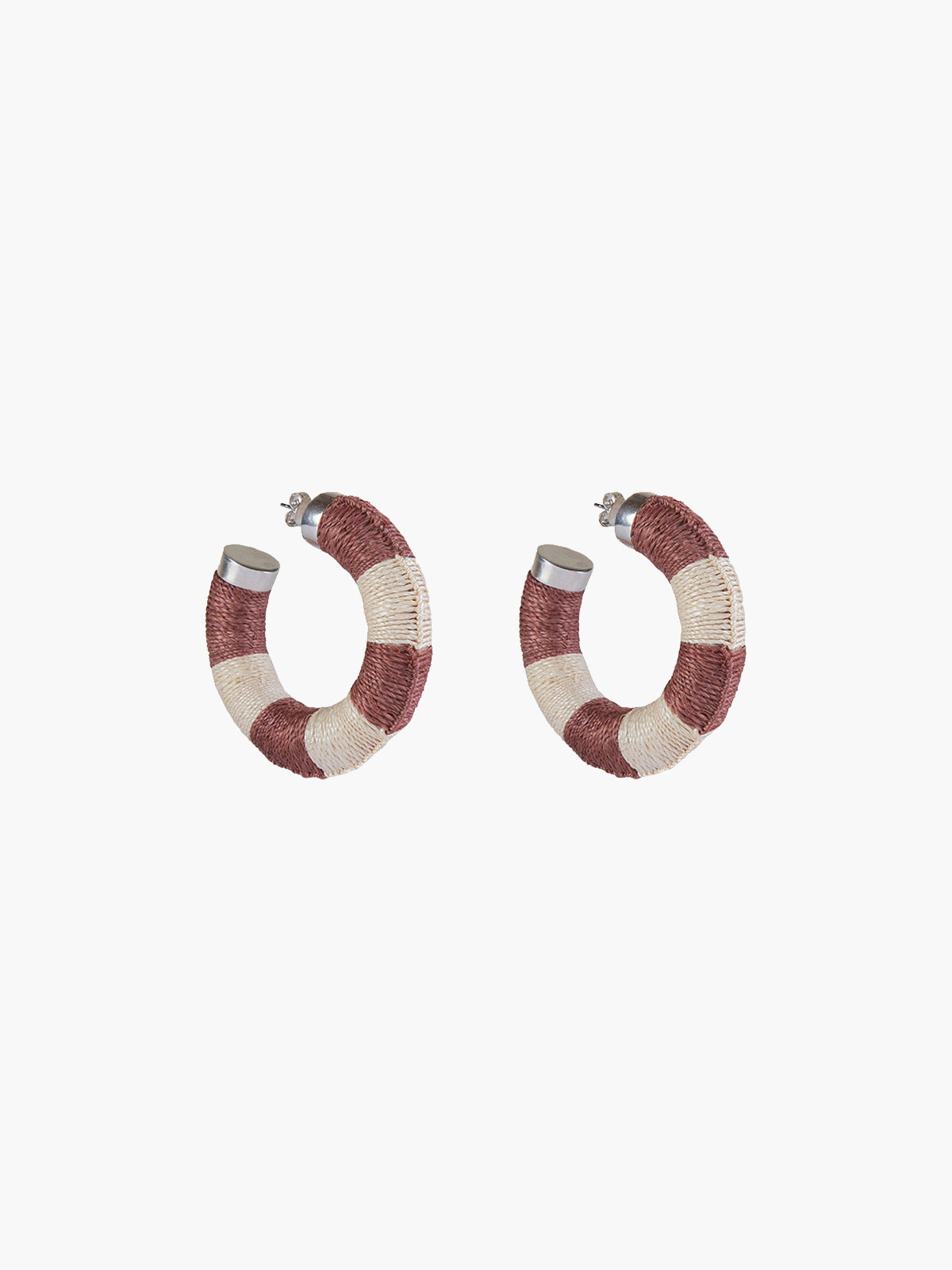 Maguey Hoops | Blush-Natural Maguey Hoops | Blush-Natural