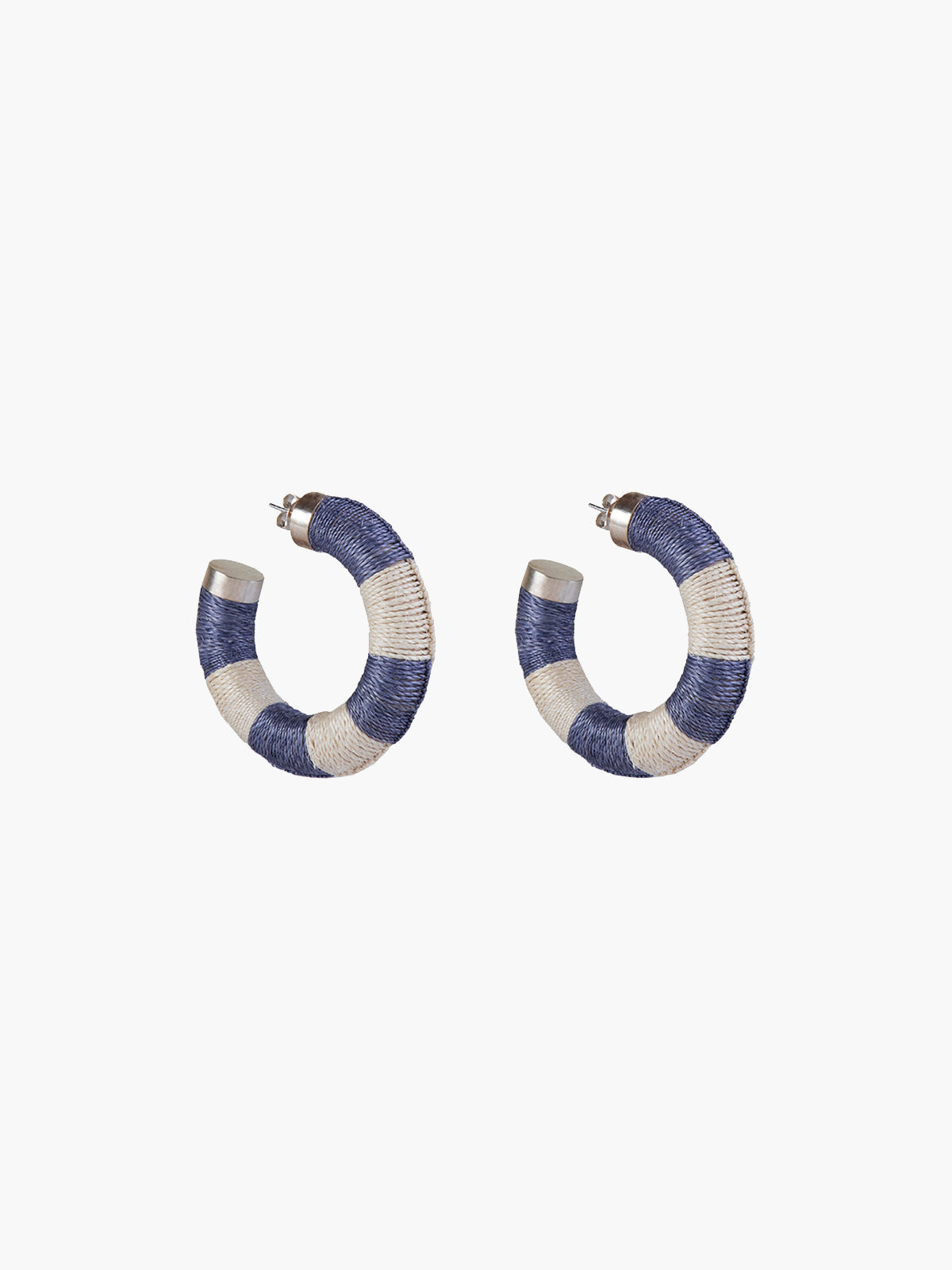 Maguey Hoops | Blue-Natural Maguey Hoops | Blue-Natural
