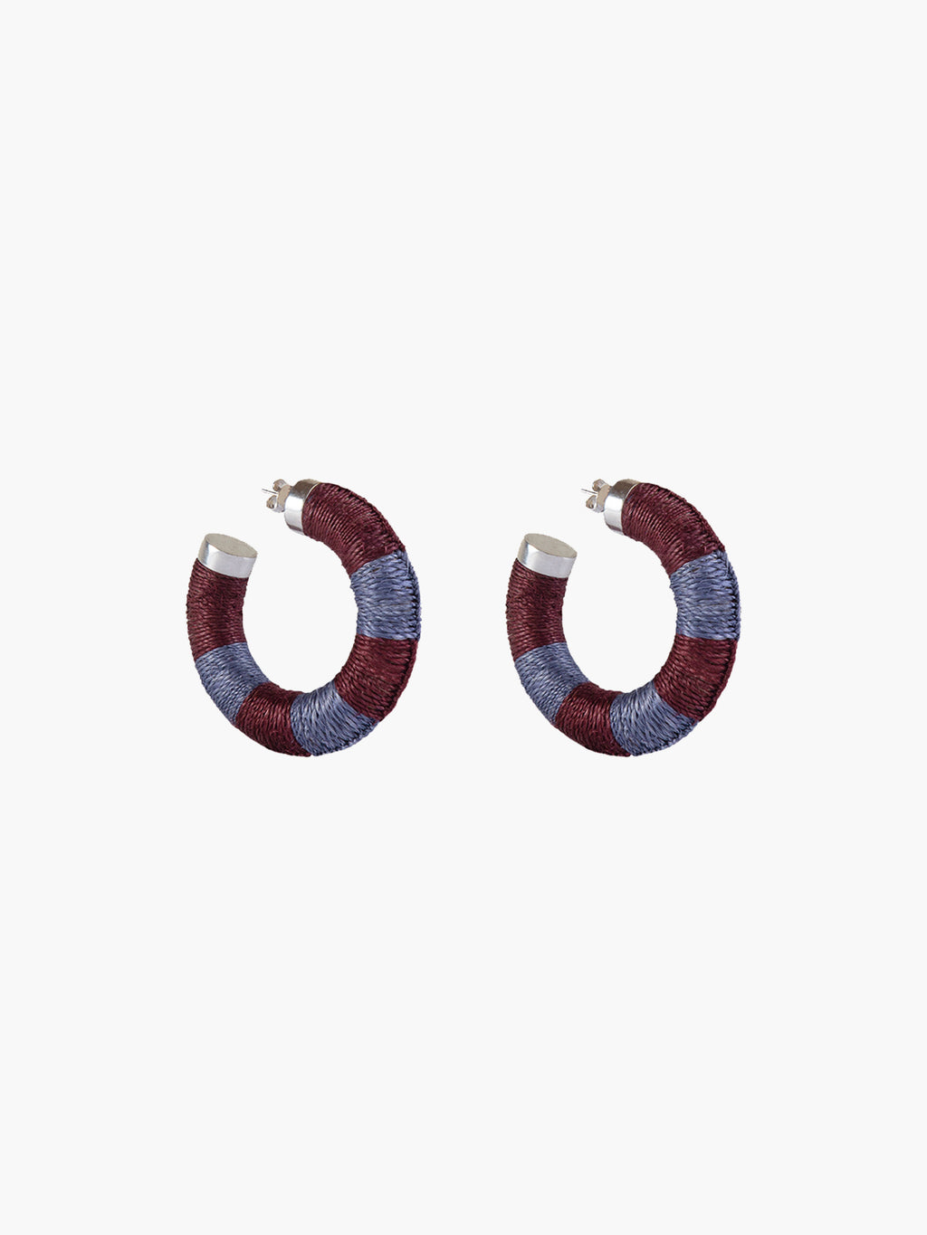 Maguey Hoops | Rust-Dusty Blue