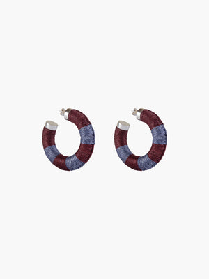 Maguey Hoops | Rust-Dusty Blue Maguey Hoops | Rust-Dusty Blue