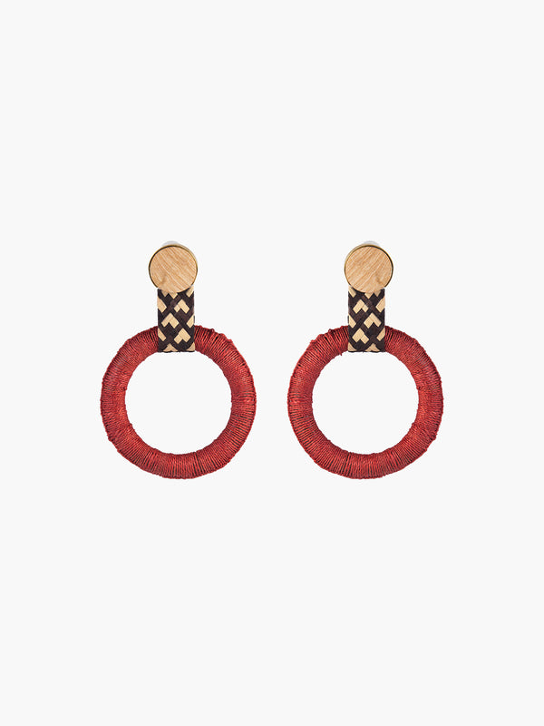 Maguey Hoops | Terracotta Maguey Hoops | Terracotta