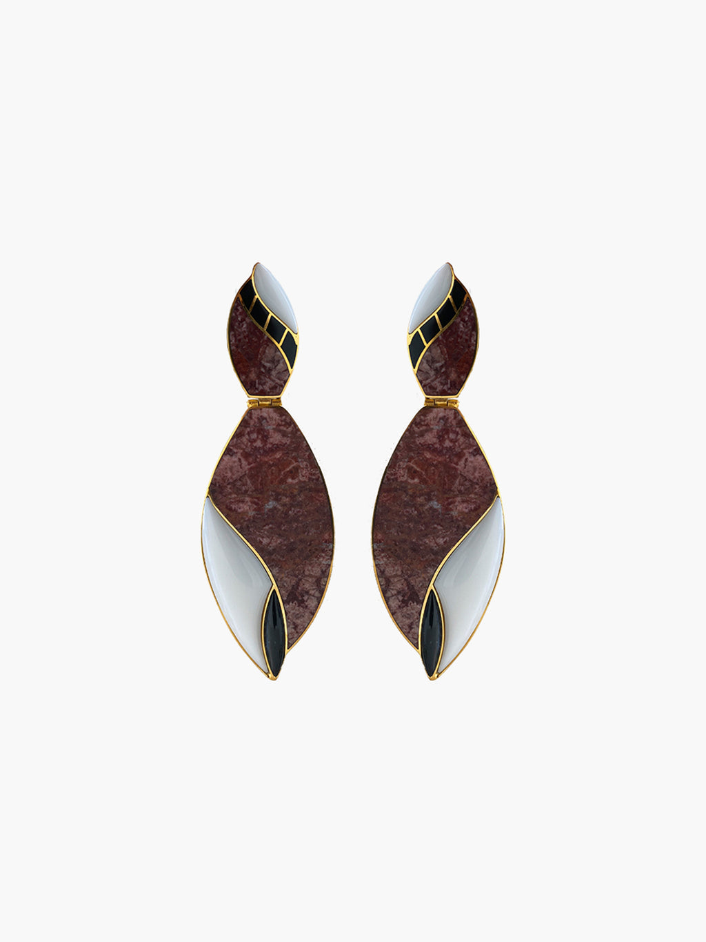 Cacao Earrings | Peruvian Jasper