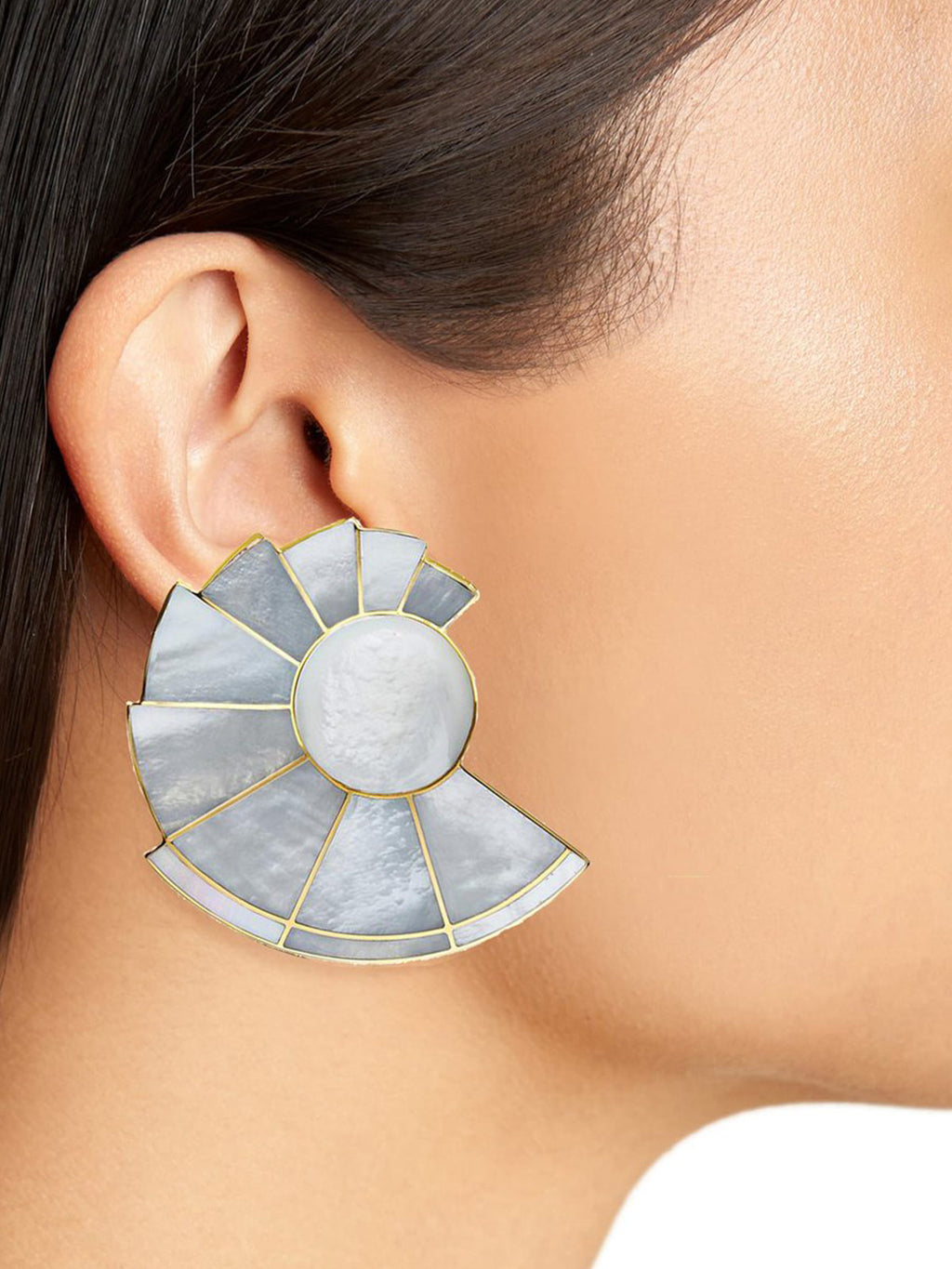 Nautilus Ear Fans | Mother of Pearl