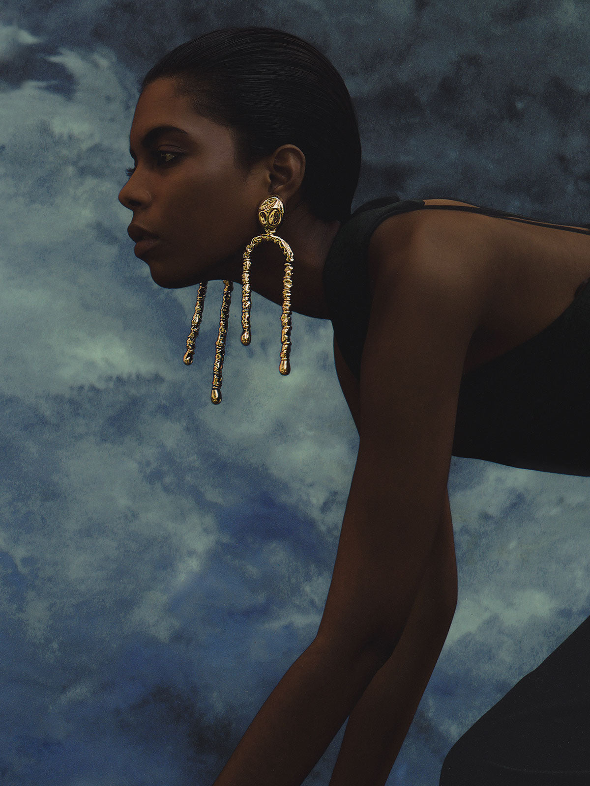 Uricao Chandelier Earrings | Gold