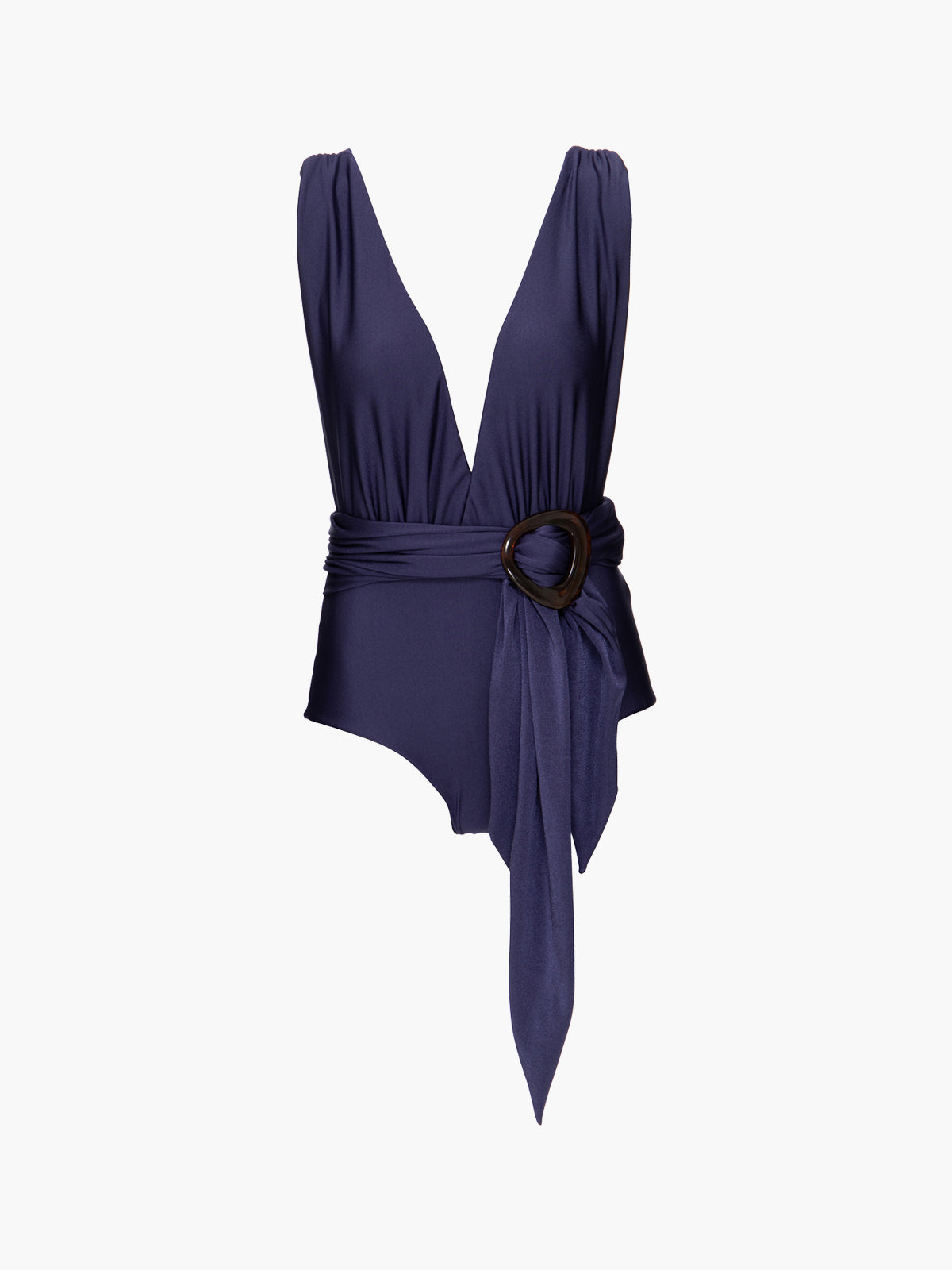 Belted Plunge One Piece | Navy Belted Plunge One Piece | Navy
