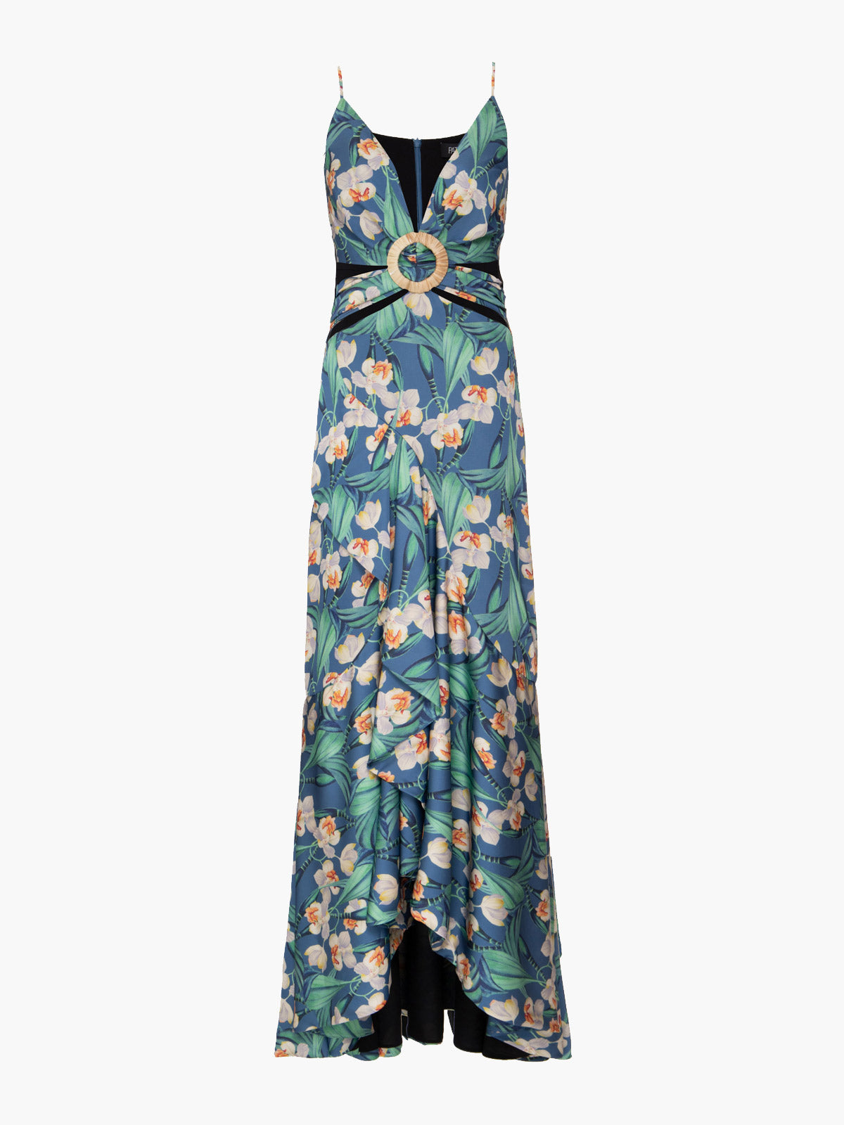 Floral Belted Maxi Dress | Blue