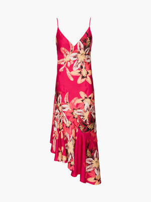 Floral Carmen Ruffle Slip Dress Floral Carmen Ruffle Slip Dress