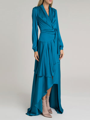 Hi-Low Maxi Wrap Dress | Azul Hi-Low Maxi Wrap Dress | Azul
