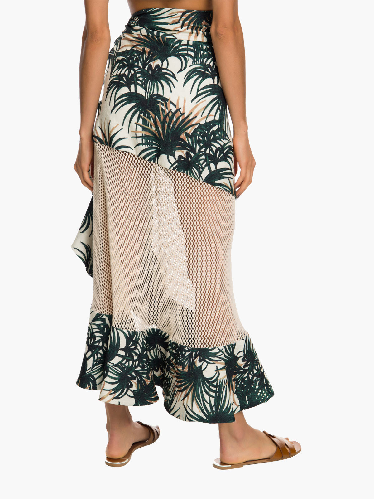 Palm Print Wrap Skirt Palm Print Wrap Skirt