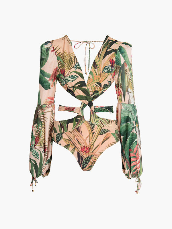 Paradise Long Sleeve Cutout One Piece Paradise Long Sleeve Cutout One Piece