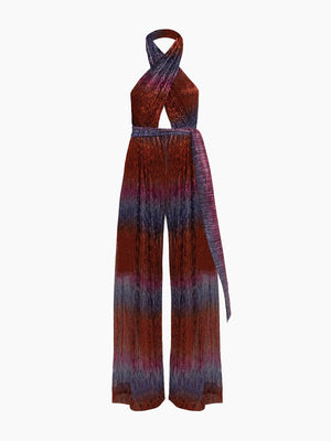 Rainbow Lurex Cross-Front Jumpsuit | Multi Rainbow Lurex Cross-Front Jumpsuit | Multi
