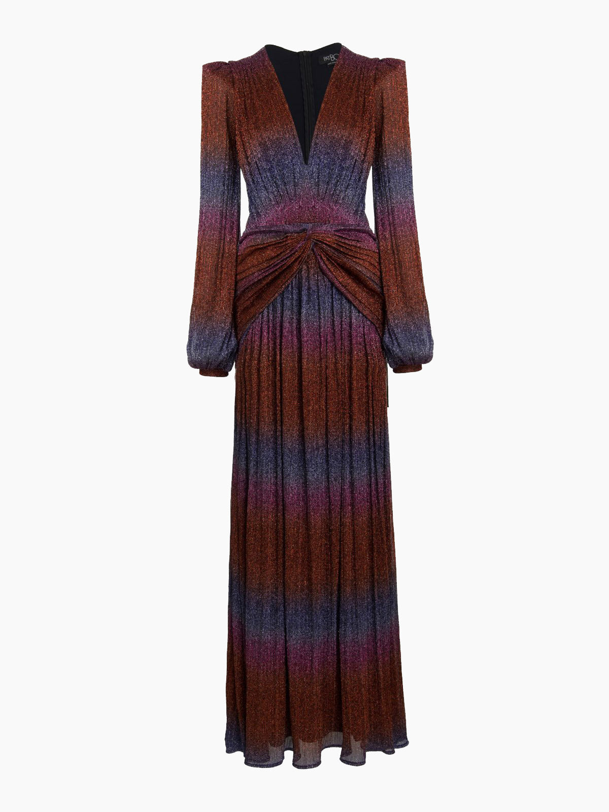 Rainbow Lurex Long Sleeve Gown | Multi Rainbow Lurex Long Sleeve Gown | Multi
