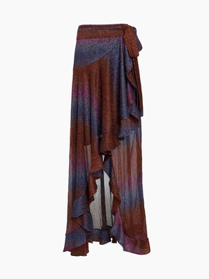 Rainbow Lurex Maxi Wrap Skirt Rainbow Lurex Maxi Wrap Skirt