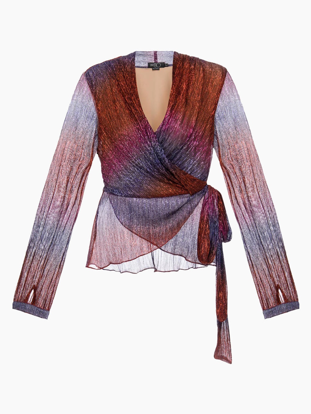 Rainbow Lurex Wrap Top | Multi