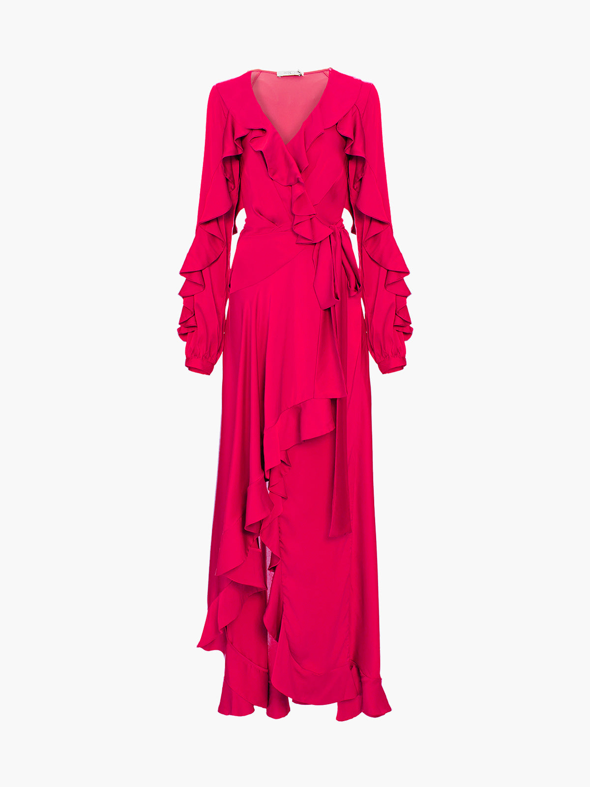 Ruffle Sleeve Maxi Dress | Hot Pink Ruffle Sleeve Maxi Dress | Hot Pink