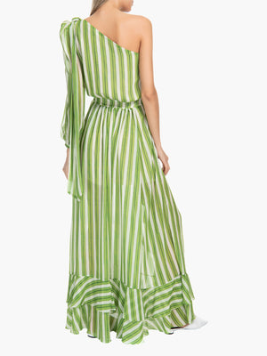 Striped One Shoulder Maxi Dress Striped One Shoulder Maxi Dress