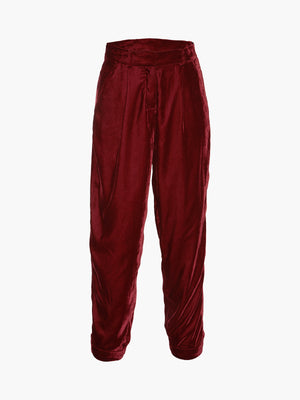 Velvet Slim Trouser | Port Velvet Slim Trouser | Port