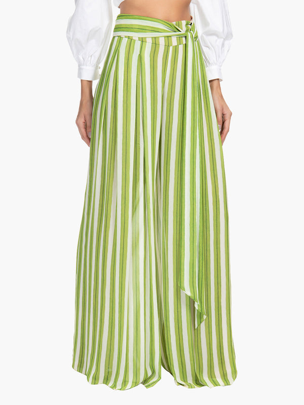 Wide Leg Pant | Striped Wide Leg Pant | Striped