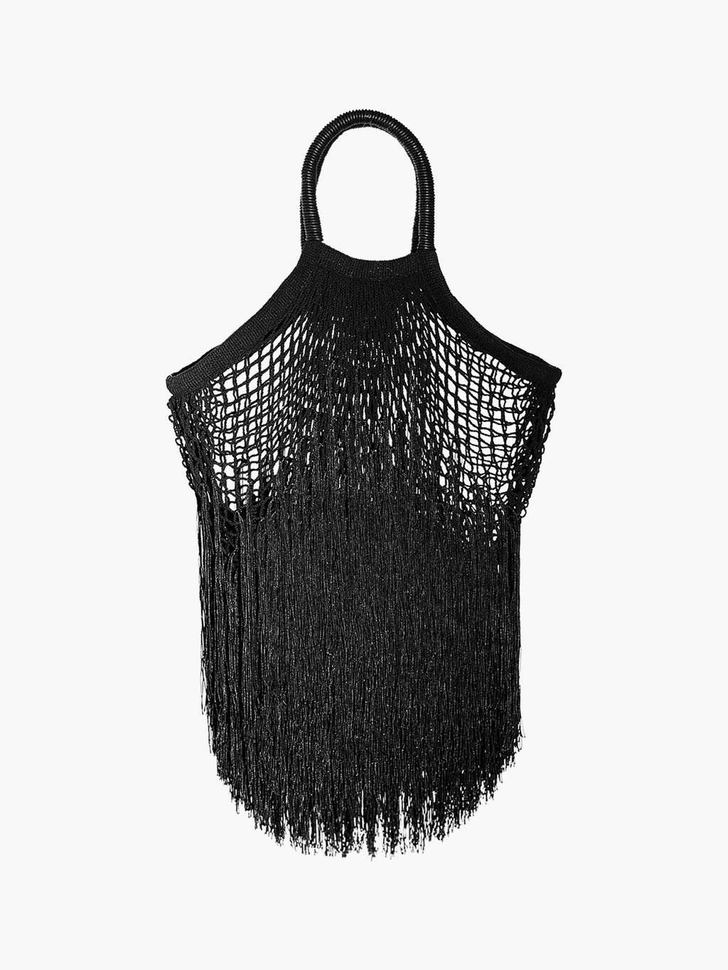 Large Fringe Tote | Black