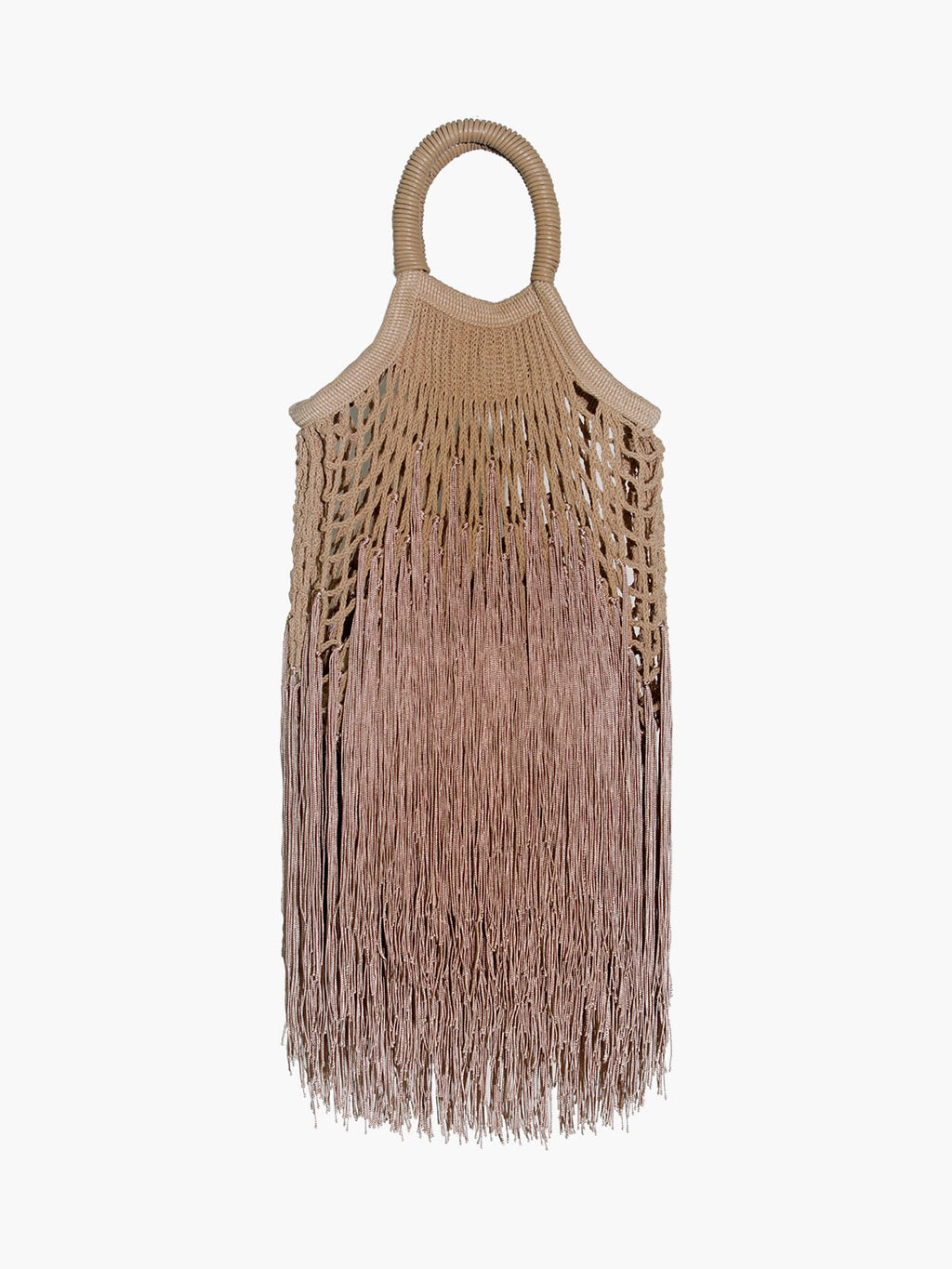 Mini Fringe Bag | Caramel