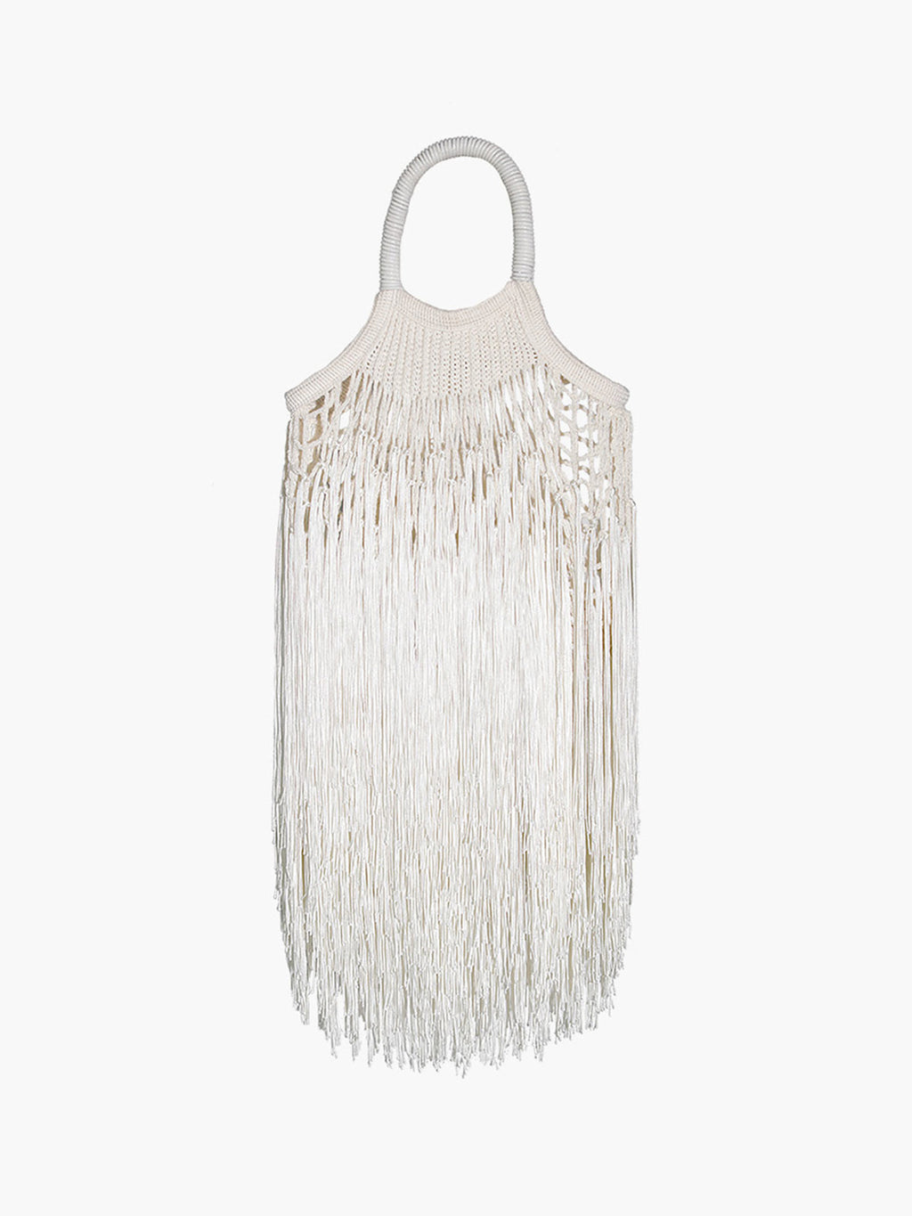 Mini Fringe Bag | Ecru