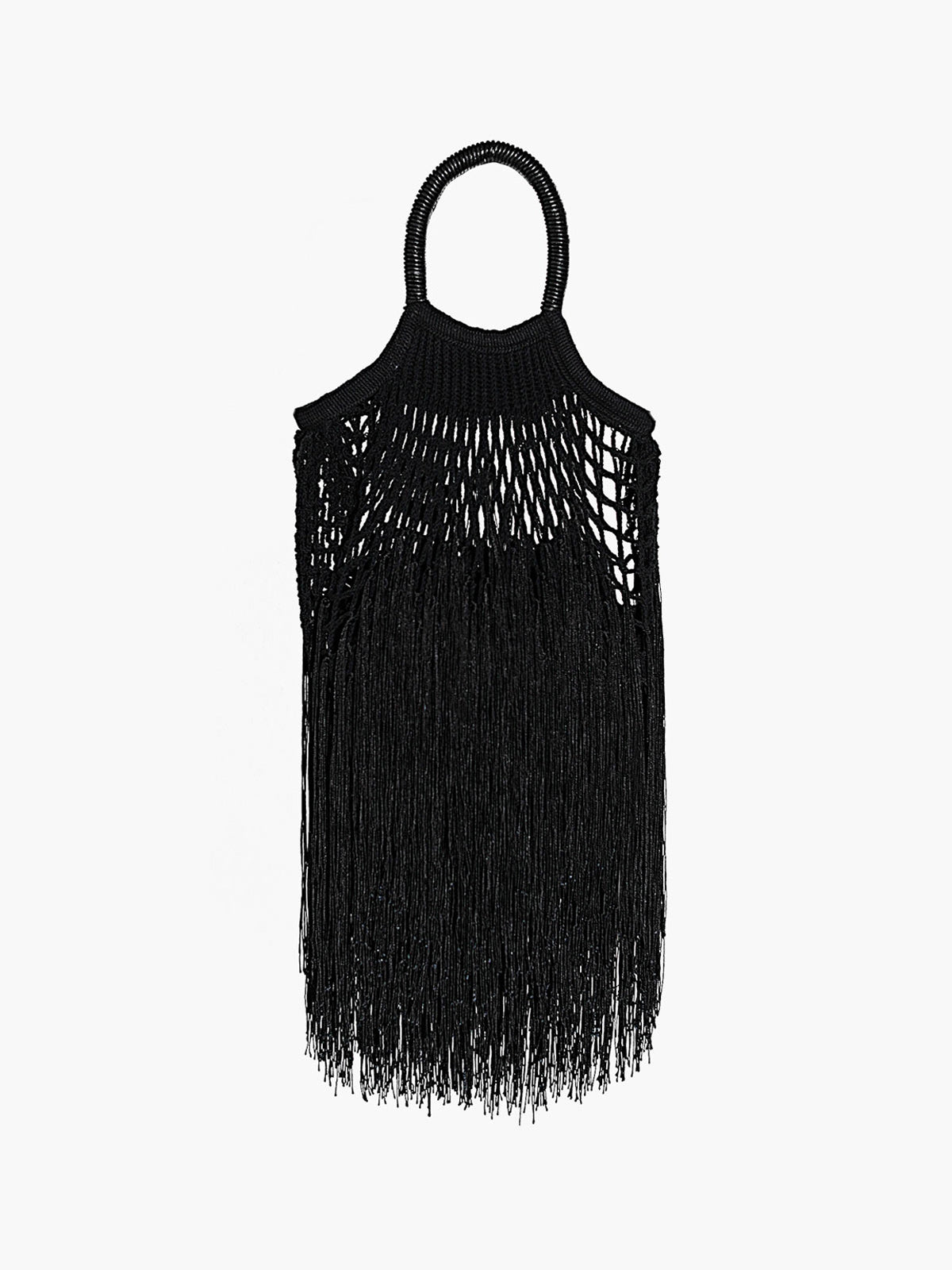 Mini Fringe Bag | Black