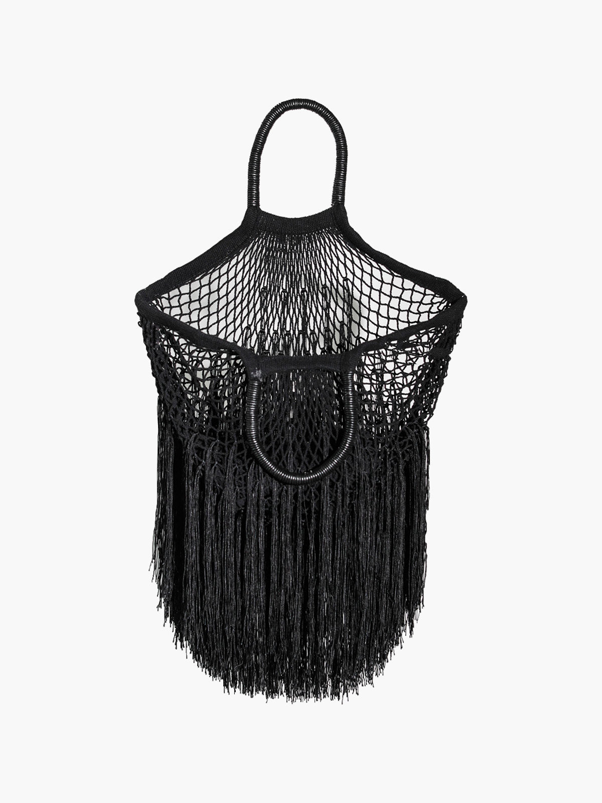 Large Fringe Tote | Black Large Fringe Tote | Black