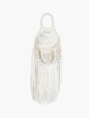 Mini Fringe Bag | Ecru Mini Fringe Bag | Ecru