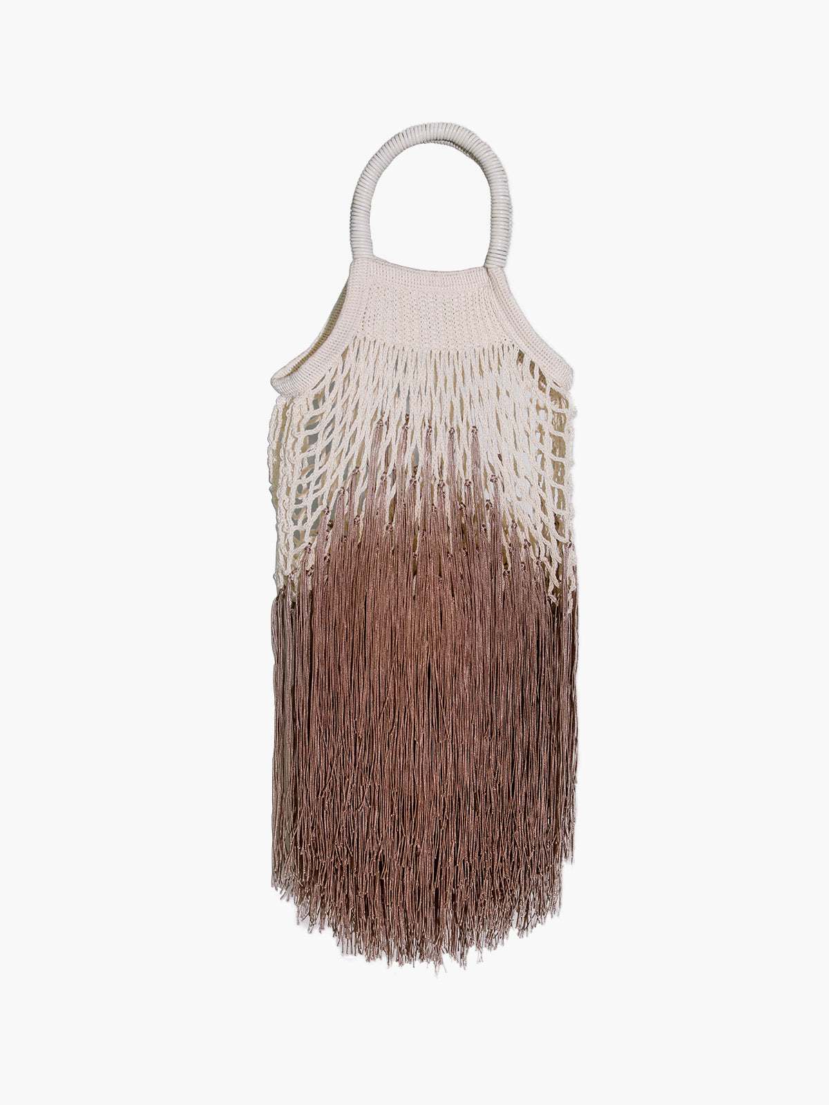 Mini Fringe Bag | Ombre Tan