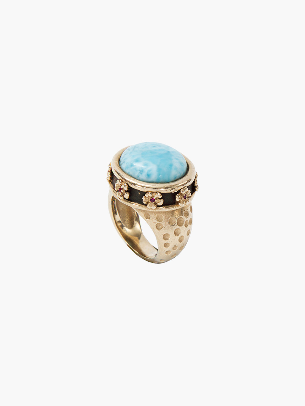 Exclusive Noora Ring | Blue Larimar