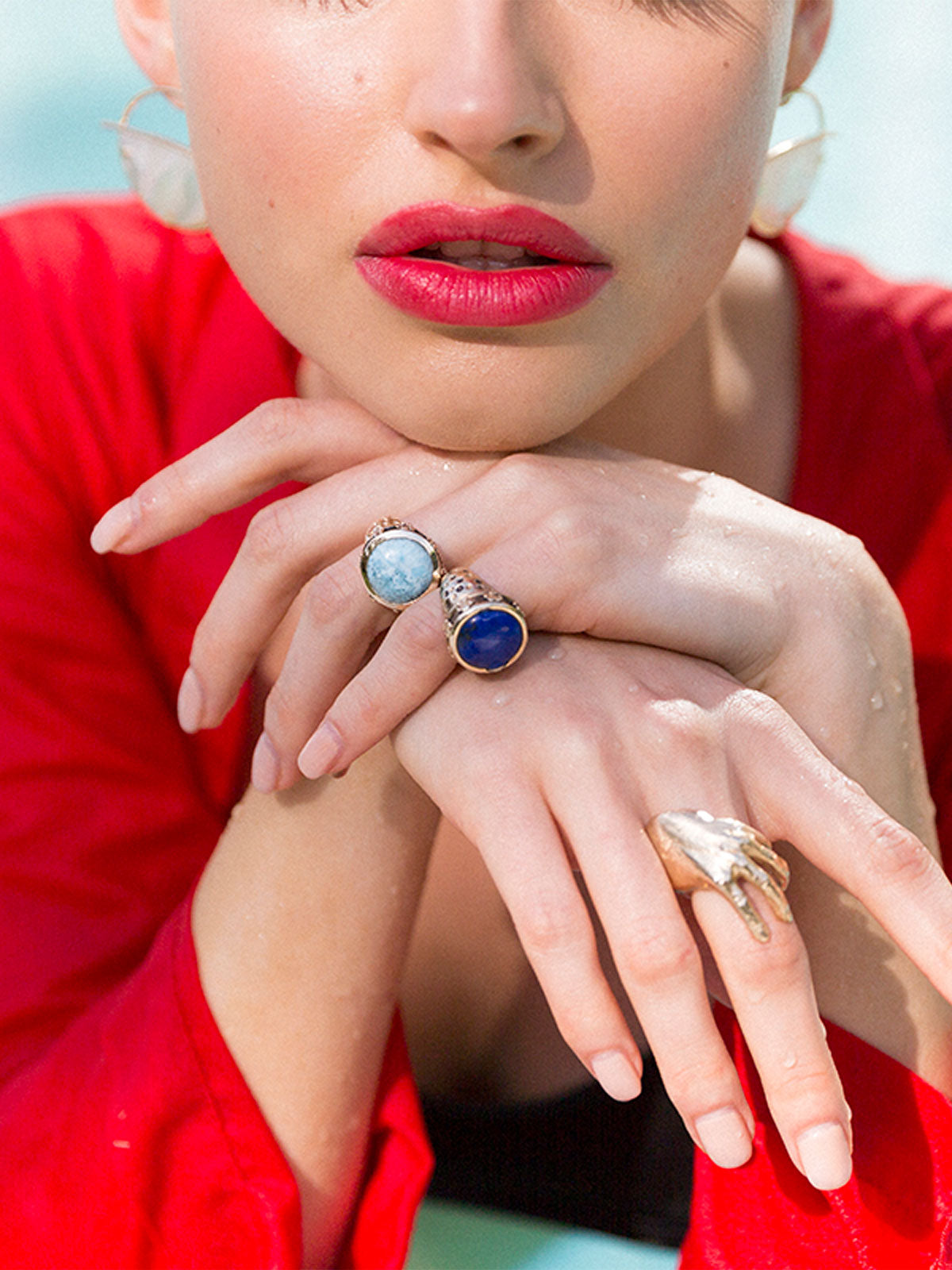 Exclusive Noora Ring | Blue Chalcedony