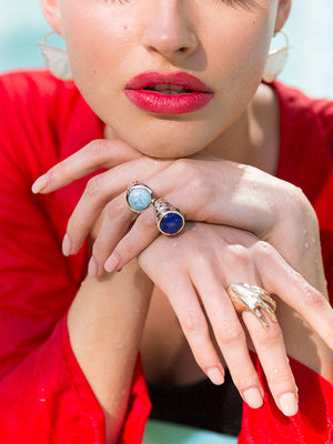 Exclusive Noora Ring | Blue Chalcedony Exclusive Noora Ring | Blue Chalcedony