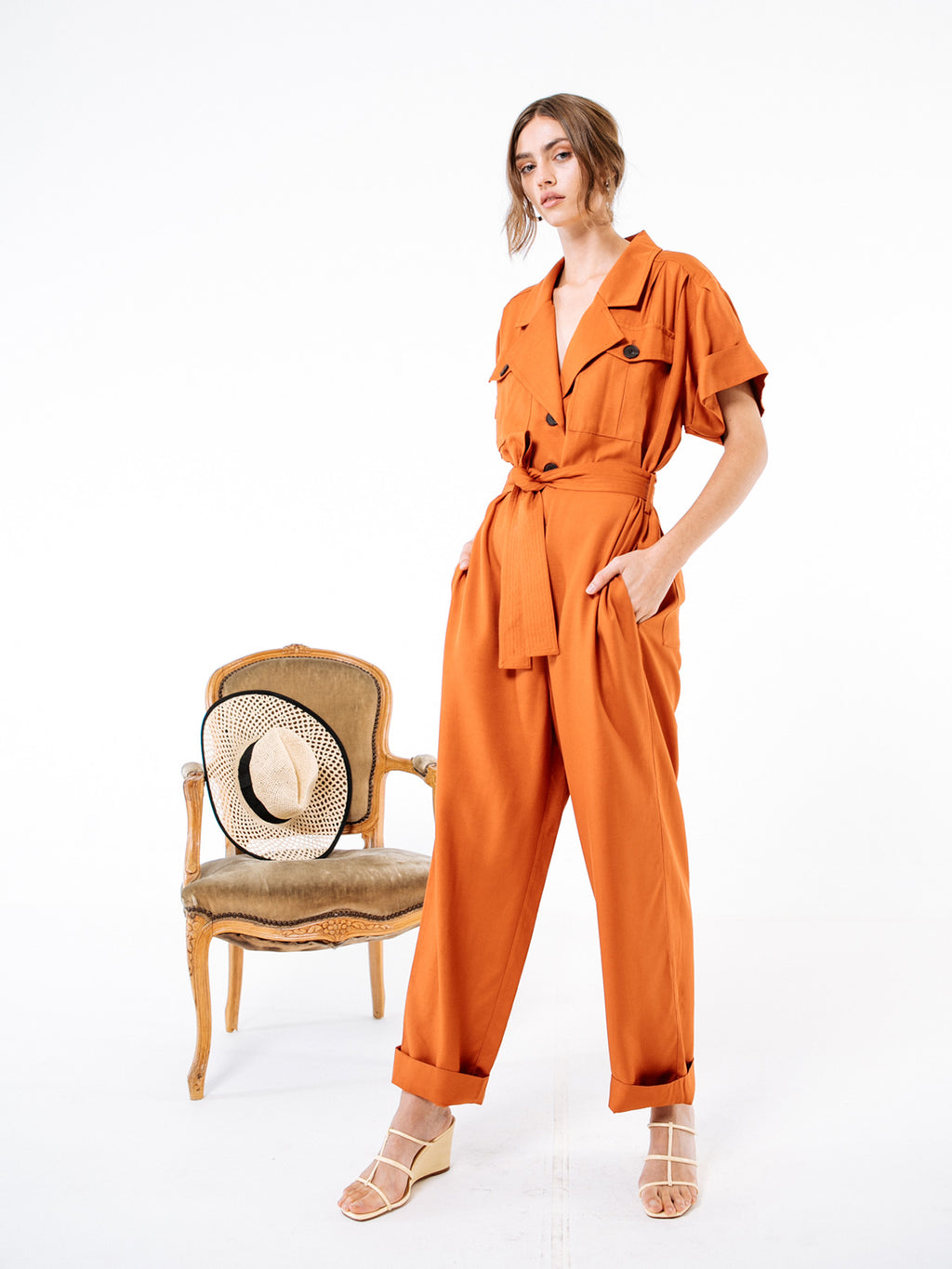 Rust Viscose Charlie Jumpsuit