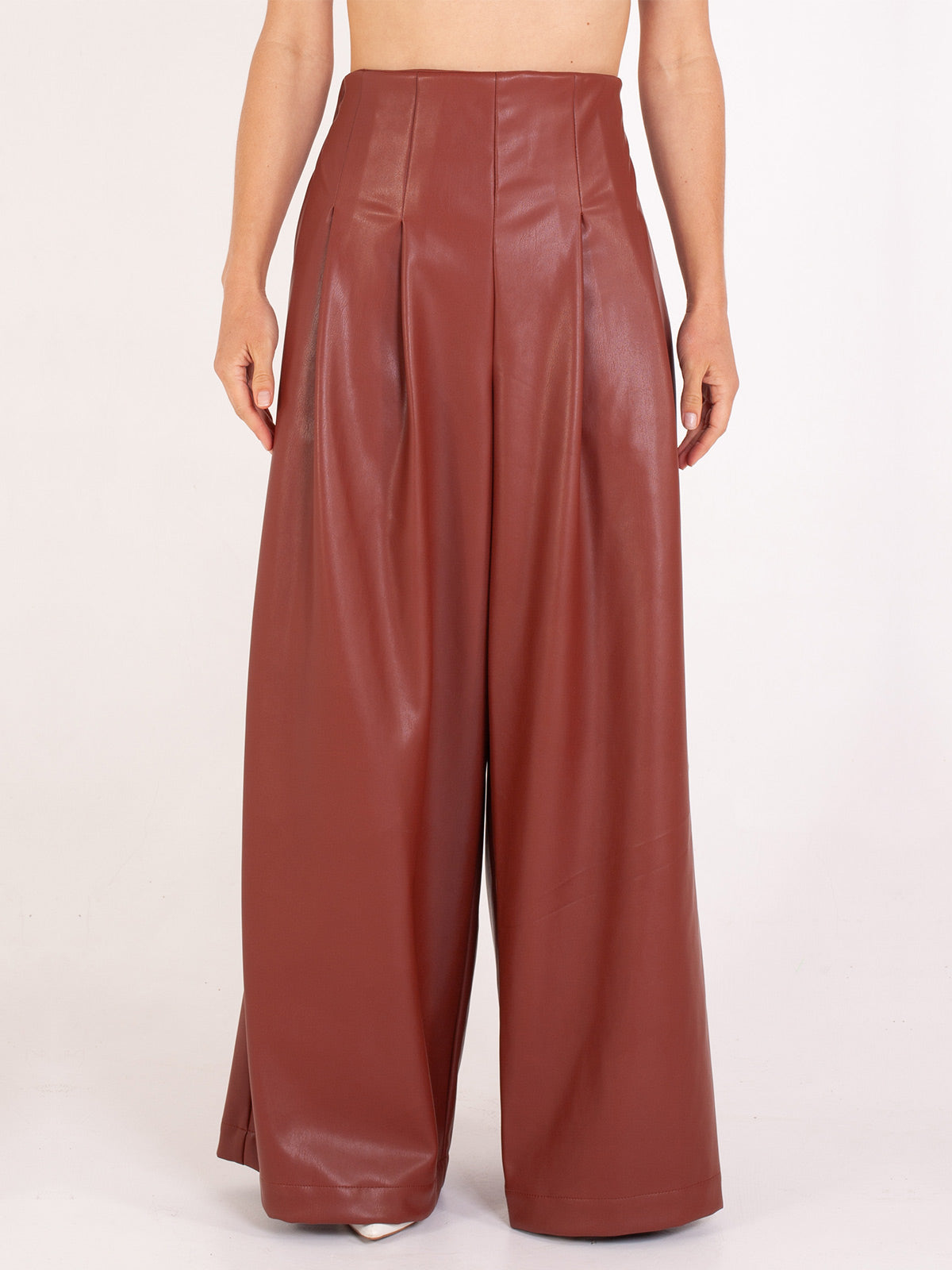 Parker Pants | Caramel Vegan Leather