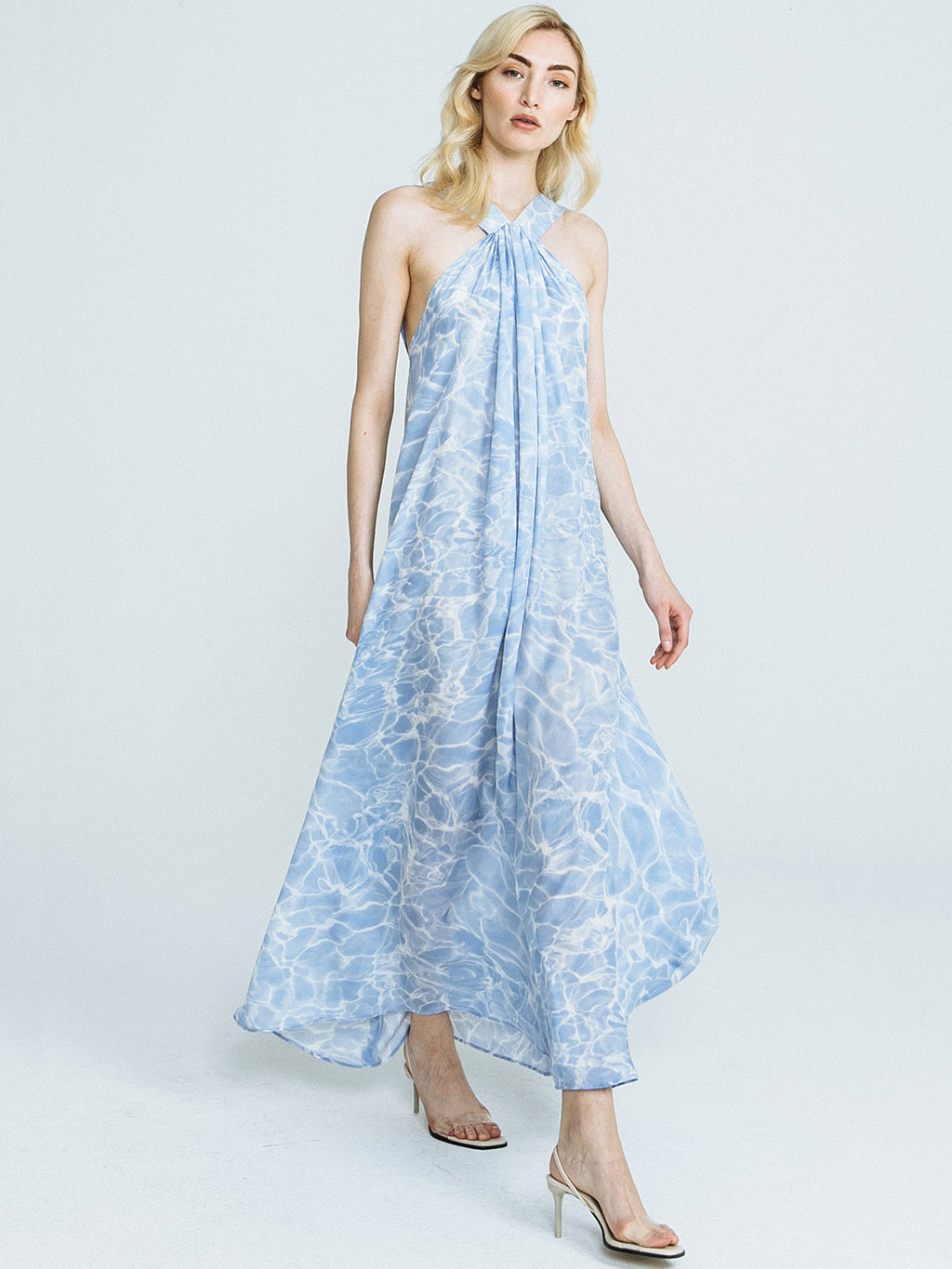 Pools Print Column Dress