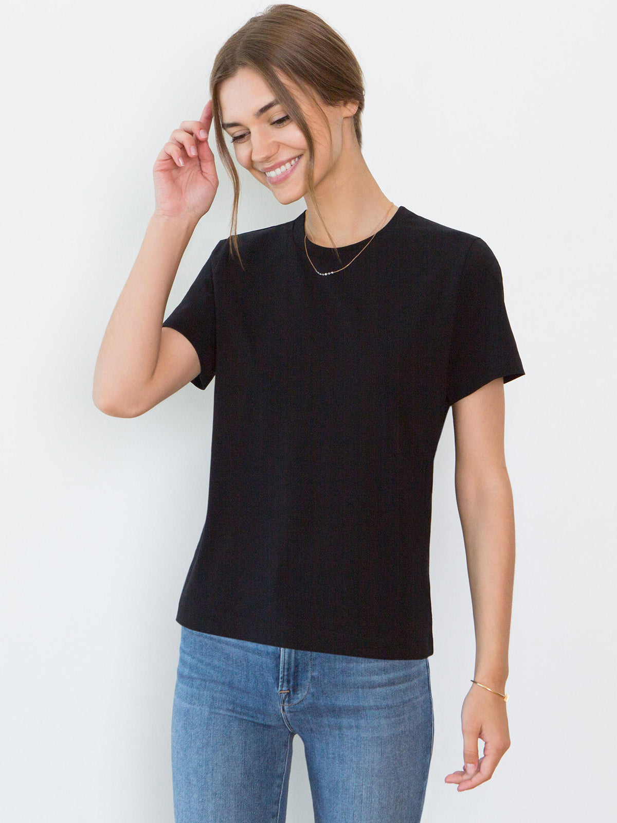 Adry Organic Cotton Crew Neck T-Shirt | Black