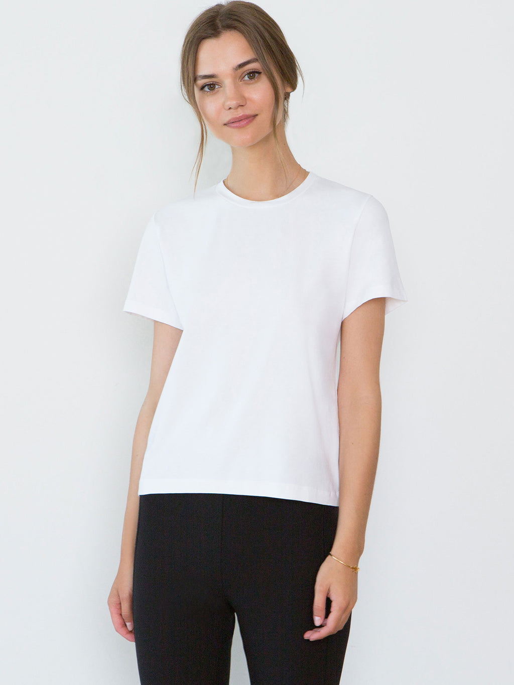 Adry Organic Cotton Crew Neck T-Shirt | White