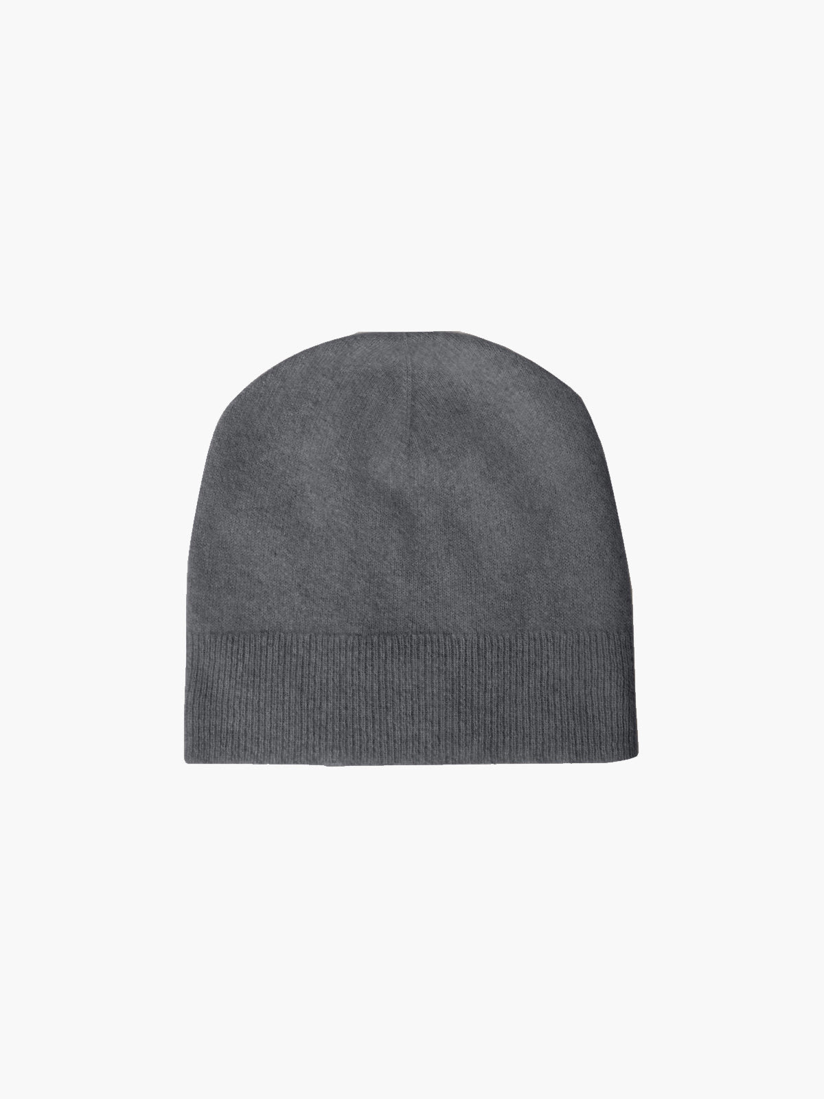 Alby Cashmere Beanie Hat | Charcoal