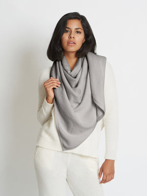Anna Cashmere Oversized Triangle Scarf | Heather Grey Anna Cashmere Oversized Triangle Scarf | Heather Grey