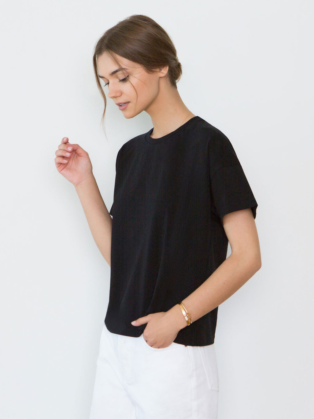 Bevin Organic Cotton Boyfriend T-Shirt | Black