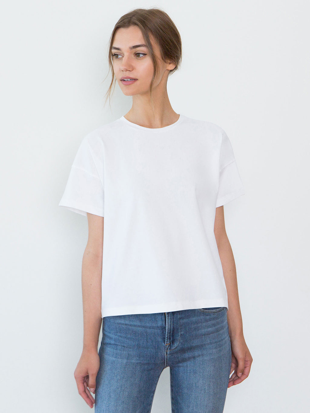 Bevin Organic Cotton Boyfriend T-Shirt | White