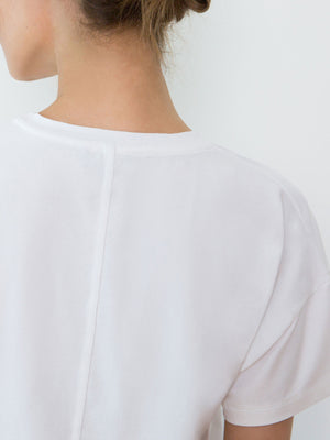 Bevin Organic Cotton Boyfriend T-Shirt | White Bevin Organic Cotton Boyfriend T-Shirt | White