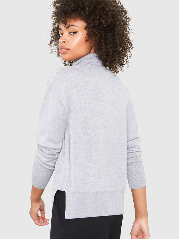 Eileen Turtleneck Relaxed-Fit Sweater | Heather Grey Eileen Turtleneck Relaxed-Fit Sweater | Heather Grey