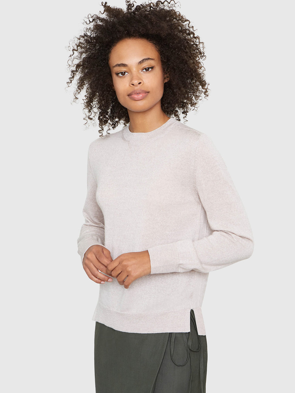 Ellen Notched Neckband Sweater | Marcona