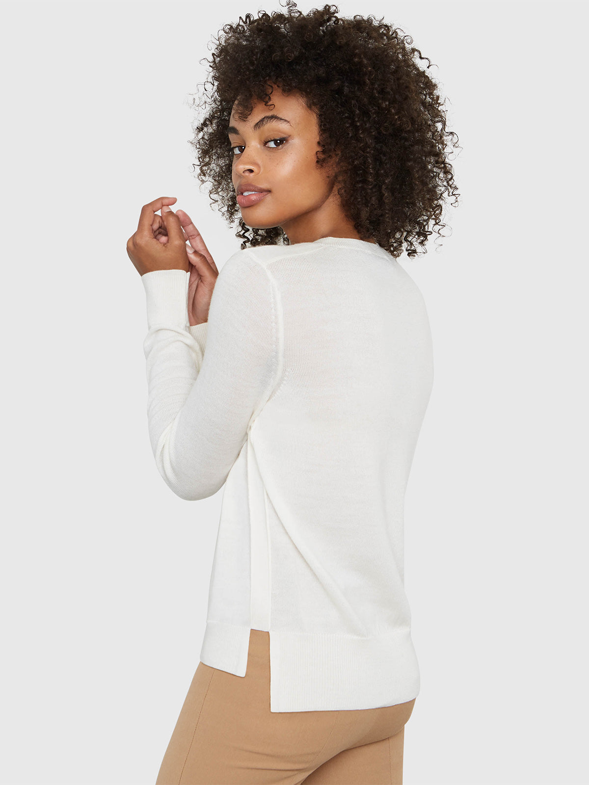 Emma V-Neck Sweater | Soft White