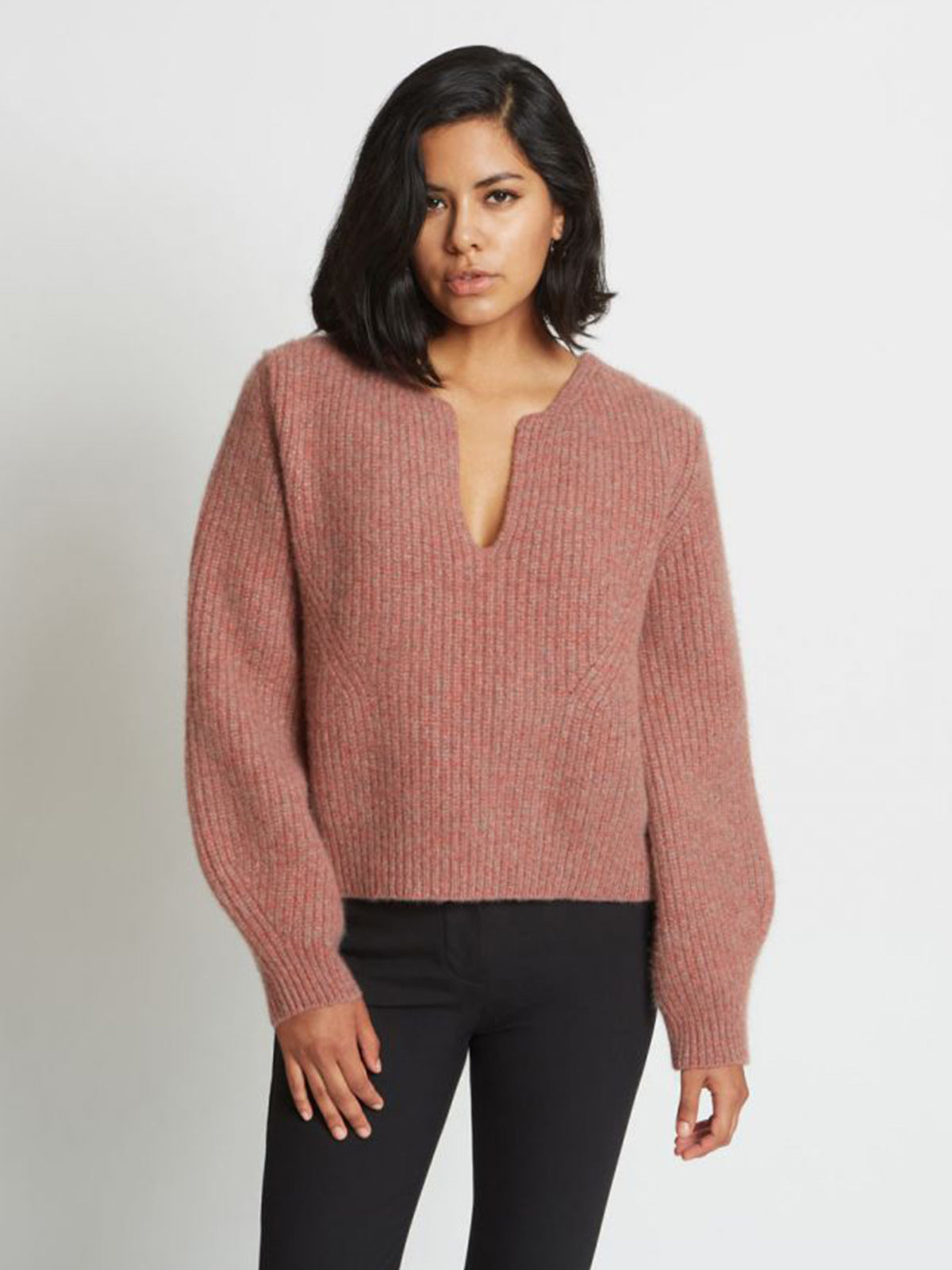 Kaya Ribbed Pure Cashmere Sweater | Red Agate Kaya Ribbed Pure Cashmere Sweater | Red Agate