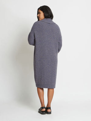 Mara Pure Cashmere Ribbed Sweater Coat | Cobalt Stone Mara Pure Cashmere Ribbed Sweater Coat | Cobalt Stone