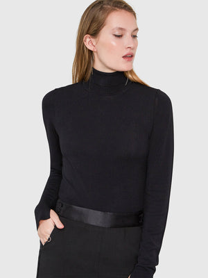 Mira Turtleneck Bodysuit | Black Mira Turtleneck Bodysuit | Black