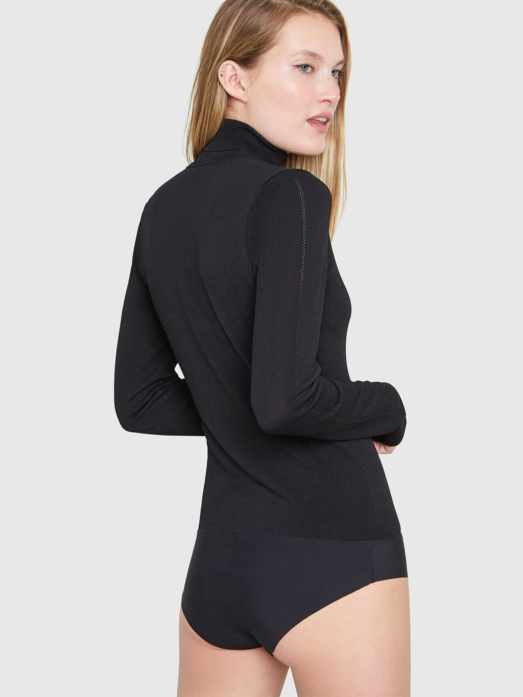 Mira Turtleneck Bodysuit | Black